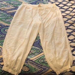 Linen Blend Pajama/Lounge Pants